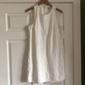 JCREW white denim dress